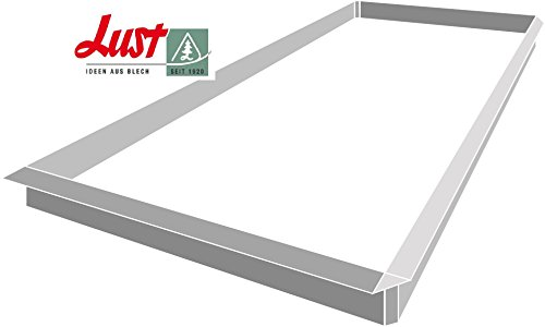 Lust Blechwaren Valla de Caracoles de Aluminio 8 x 1,0 m y Conexiones 4 x angulares 90°