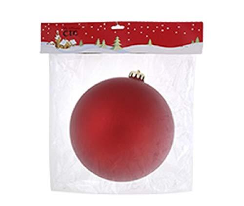 Casa y Menaje Bola de Navidad Mate 15 cm Color Rojo