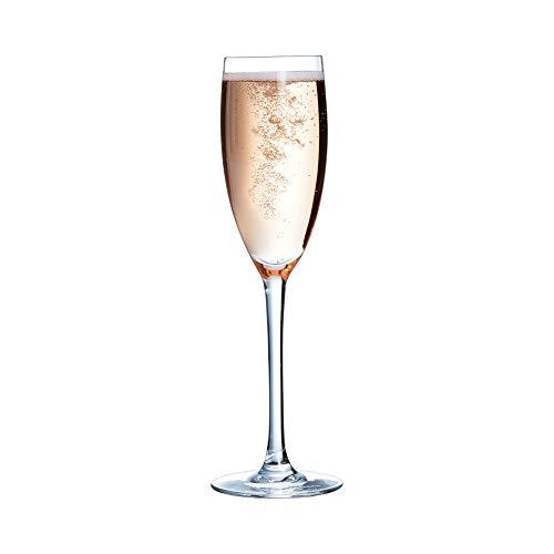Chef&Sommelier 48024 Flute à Champagne Cabernet 16 cl, Verre Ultra Transparent - Lot de 6