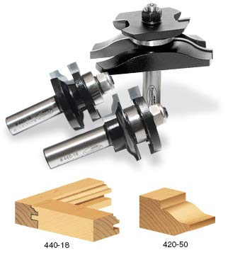 Timberline TRS-250 Ogee Raised Panel Door Making Router bit Set with Back Cutter, 3-Piece