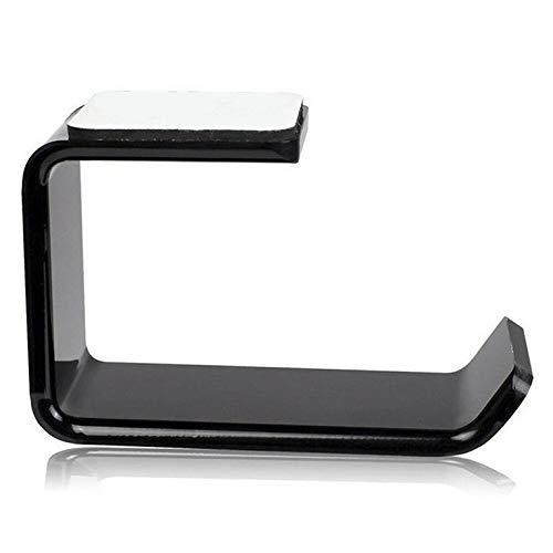 #N/V Soporte para auriculares simple con gancho para colgar debajo del escritorio, soporte para auriculares dual.