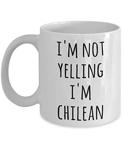 Taza De Ceramica Chileno I'M Not Gritando Soy Chile Leche De Oficina Taza De Café Taza De Porcelana Amigos 330Ml Personalizada Cerámica Aniversario Duradera Taza De Té Regalo De La