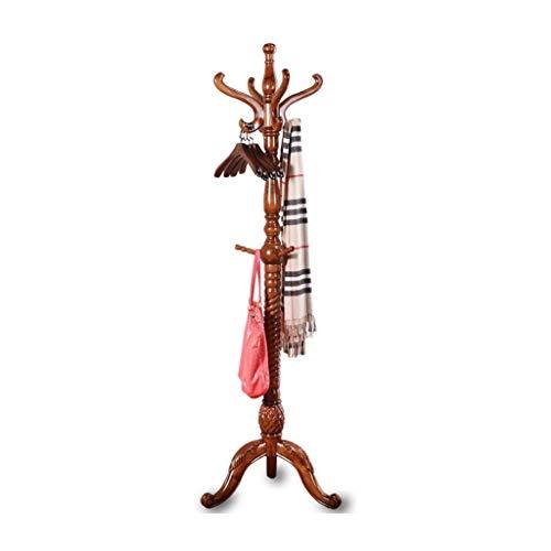 Lsqdwy Perchero 8 Ganchos Perchero de Madera Maciza Perchero de pie Perchero Muebles para el hogar Almacenamiento de Ropa Perchero de Roble Perchero para Dormitorio Perchero (Color: B)