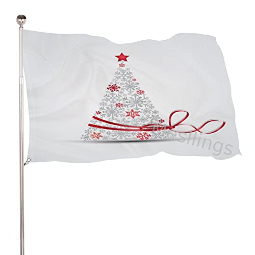 Mesllings Winter White Christmas Tree 3x5 ft Perfect for Tailgates Dorms College football Fraternities Parties Home House Outdoor Indoor Decor