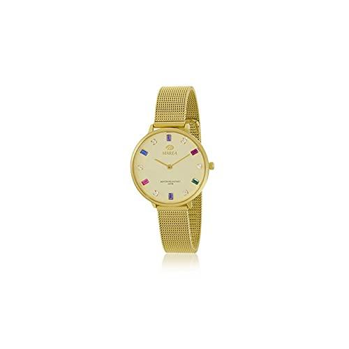Reloj Analógico Marea B41290-3 Malla Dorado Mujer