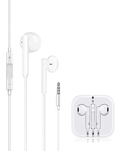 Auriculares, Cascos con Cable,Auriculares con Micrófono y Control de Volumen,compatibles con Cascos para iPhone/Galaxy/Huawei/XiaoMi/PC/MP3/MP4/iPad y Todos los Dispositivos de Auriculares de 3,5 mm