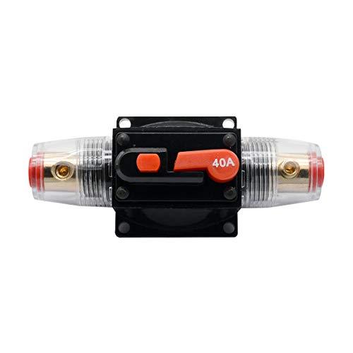 MASO 40 amp circuit breaker mit manueller reset-12v 24v dc car audio inline circuit breaker sicherungsblock f/ür auto motor car marine boat audio solar inverter system protection 40a