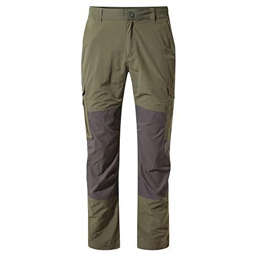 Craghoppers M NosiLife Pro Adventure Hose Oliv-Schwarz, Herren Daunen Hose, Größe 36 - Regular - Farbe Mid Khaki - Black