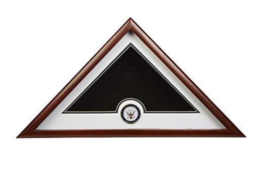 Allied Frame US Navy Interment American Burial Flag Display Case with Official Navy Medallion