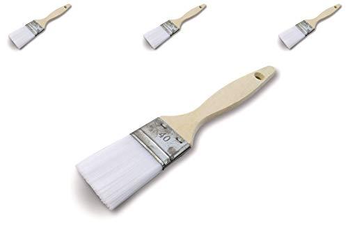 Pinceau de nettoyage queue de morue |Lot de 3 | Nylon | Largeur 40mm | Unité jetable | Multi support | Peinture huile acrylique vernis émaux colle lasure teinture apprêt résine | Kibros 321_40cx3