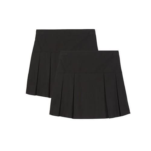 4e5577ccf0 Debenhams Kids Girls' Pack of Two Black Kilt School Skirts