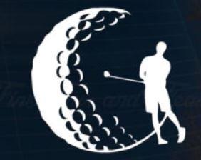 Makarios LLC Golf Mond Silouhette Aufkleber Vinyl Aufkleber Auto LKW Vans Walls Laptop MKR 5,25 x 5,25 Zoll weiß MKR056