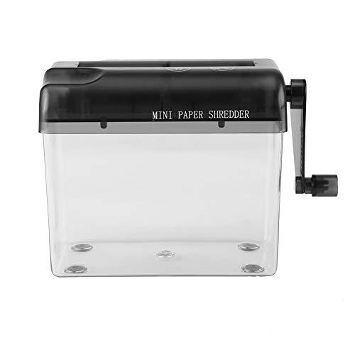 SELUXU Mini Papel Corta trituradora Manual Documentos Mano cortadora Mano Herramienta para Escritorio de Oficina Home Desktop