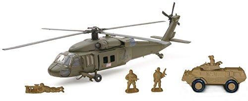 NewRay- Sikorsky UH60 Black Hawk Playset, 21833