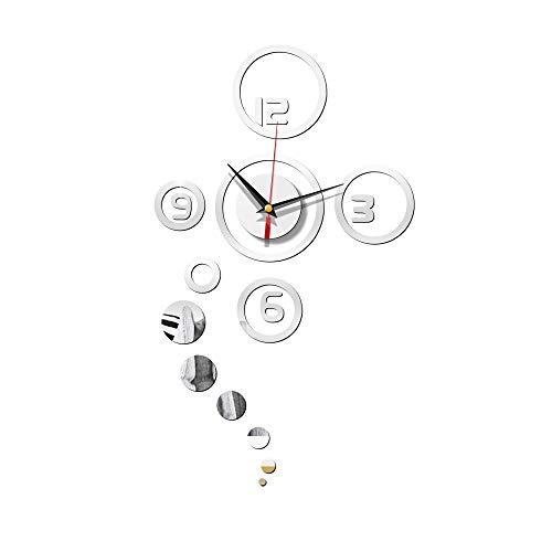Wanduhr Wanduhr Batteriebetrieben Nicht Ticking Modernes Schlafzimmer Küche Wohnzimmer Home-Ticking Quarz Dekoration Kunst Uhren Dekorative Uhr,Size:36X61CM