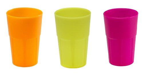 Mojito Design Cocktail35 Bicchieri, Multicolore Fluo, 6 x 350 ml