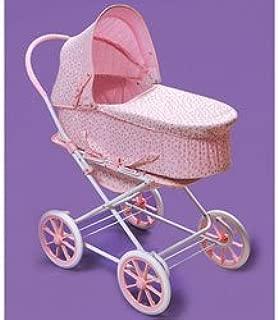 Badger Basket Pink Rosebud 3-in-1 Doll Pram