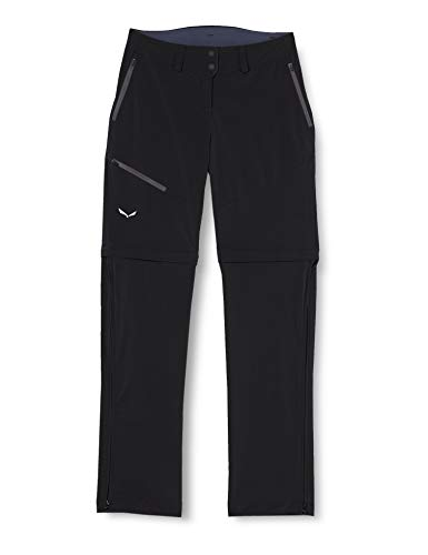 Salewa PUEZ 2 DST W 2/1 Pantalon Femme, Black Out, FR : S (Taille Fabricant : 42/36)