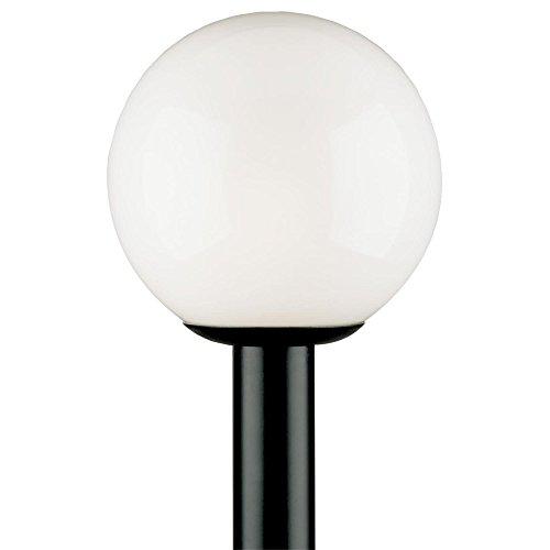 Westinghouse Lighting 6686100 One-Light Post-Top Exterior Lantern, Black Finish Polycarbonate with White Acrylic Globe