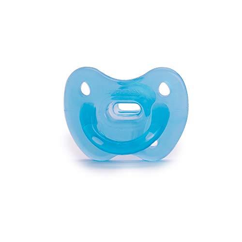 Suavinex - Chupete para dormir todo silicona para bebés 0 6 meses. con tetina anatómica de silicona. suave y flexible, ideal para dormir. color Azul