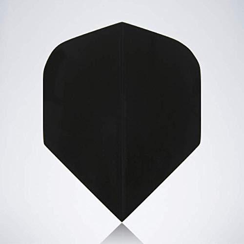 myDartpfeil Schwarze Standard Dart Flights | EINFARBIG aus Kunststoff | 3er Flight Set | Dartpfeil Flyer