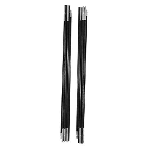Vara de barraca de fibra de vidro, haste de suporte de toldo de fibra de vidro, haste de suporte de barraca, elástico de alta resistência resistente ao calor para acampamento ao ar livre
