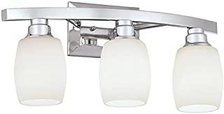 Best allen roth 3 light chrome bathroom vanity light Reviews