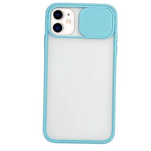 Tuimiyisou del Color del Caramelo Transparente Claro de la Cubierta Posterior del teléfono Compatible con iPhone Pro 11 Antideslizante Resistente a los arañazos Caja del teléfono del
