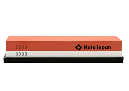 Kota Japan # 3000-8000 Grit Premium Whetstone. Knife Sharpening Stone VALUE BUNDLE Kit. ENJOYABLE, Smooth, EFFORTLESS. NO-SLIP Base, Utmost SAFETY, Superior QUALITY,, Perfect GIFT!!
