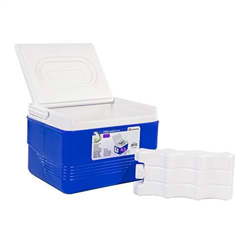 SQ Pro Cooler Glacière/Chaud Box Glacier Camping Pique-Nique isolé Aliments (Bleu, 6 L)