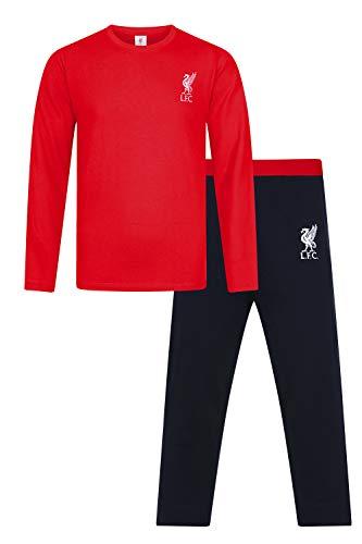 Pijama Oficial de Liverpool Football Club Long LFC para Hombre Rojo Rosso XL