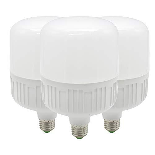 Bombillas LED superbrillantes, base E27, luz blanca cálida 2700K, 30W (equivalente a 200 W), bombillas LED de alta potencia comercial - Pack de 3