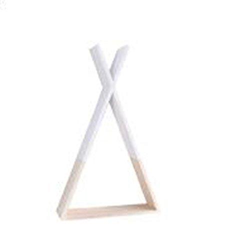 Xiaolin Nordic Creative Décoration Murale Triangulaire en Bois De Stockage Racks Salon Chambre Décoration Simple Mur Décorations Murales Facultatif Couleurs 56 * 34 * 10 cm (Couleur : Blanc)