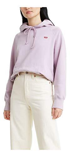 Levi's Women's Sport Sweatshirt Hoodie, Lavender Frost, Large