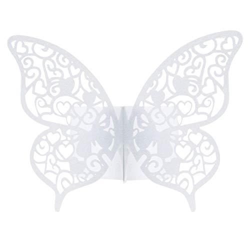 Anjing 50 Stück 3D Schmetterling Papier Serviettenring Serviettenhalter für Dekoration Hochzeit Party Tisch