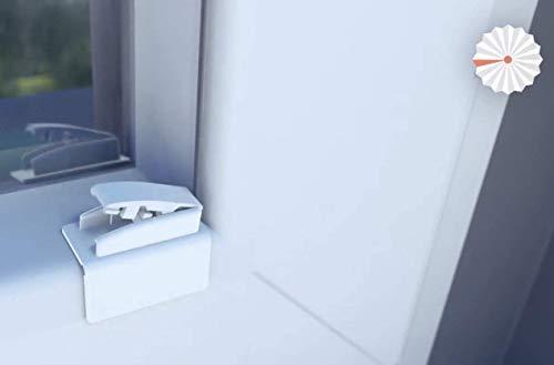 PLIMA fix Universal Klebeplatte mit Gelenk zur Plissee-Montage ohne Bohren (an PVC-Fenstern!) - Innovation-Made in Germany!