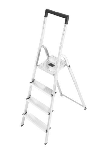 Hailo 8140-407 Escalera de tijera aluminio, 4 peldaños