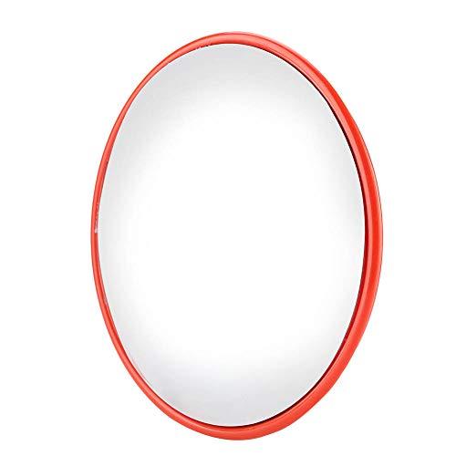 Espejo convex de tráfico, espejo de gran angular de tráfico para seguridad en carretera y tienda, con accesorios de montaje