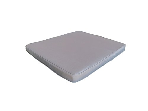 Madison Hochwertiges Loungekissen in grau mit Reißverschluß, 58 x 51 x 6 cm, 005