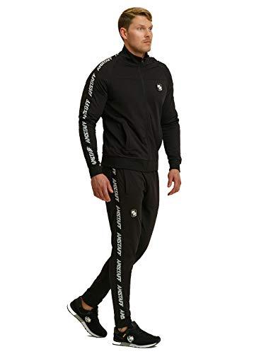 Amstaff Zerura Track Suit Trainingsanzug Jogginganzug Schwarz 4XL