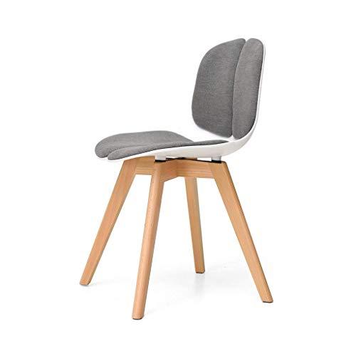Household Necessities/managersstoel, massief hout, wit, eenvoudige en moderne stijl, bureaustoel, ergonomische stoel, comfortabele zitting, stoel met stabiliteit 45*45*77CM Wit