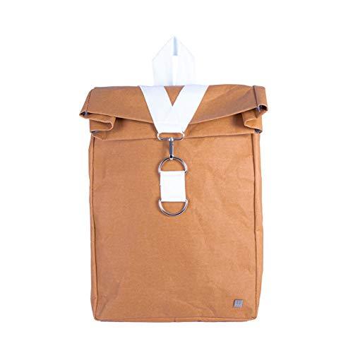 WOLA Laptop Rucksack Papier Origami Laptop-Tasche15,6 Zoll City Rucksack vegan weiß
