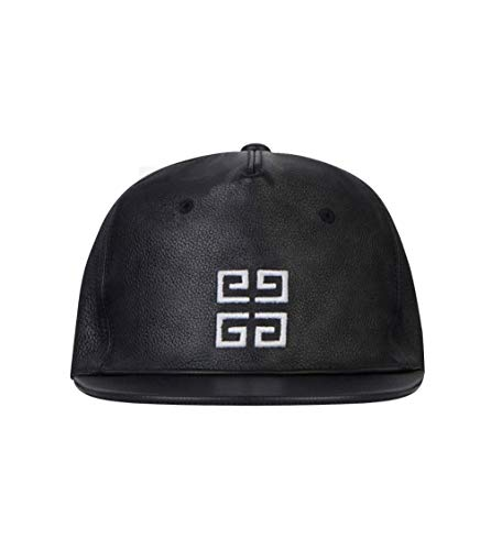 Givenchy Paris - Gorra de béisbol con logotipo de cuero y logotipo de París