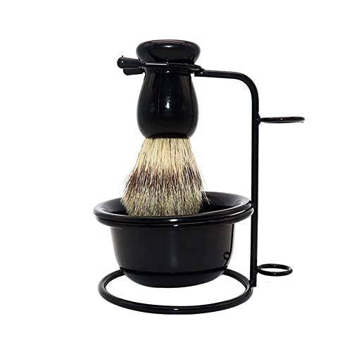 Set di cure di rasoio, strumento di spazzole di bellezza portatile, spazzola da barba, supporto da barba, kit di sapone da barba, forniture for la pulizia del bagno, for uomo Kit da viaggio perfetto