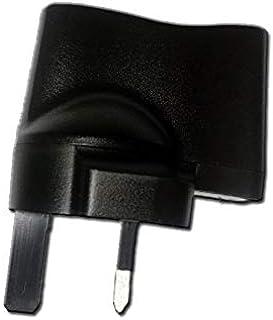 3 Pin Plug USB Fast Adaptor - Black