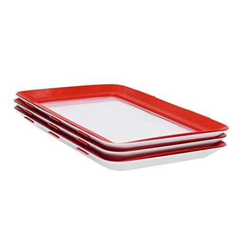 Groothandel 4 STKS Slim Lade Creatief Voedsel Conservering Lade Plastic Voedsel Opslag Container Set Voedsel Verse Opslag Magnetron Cover, 3 STKS