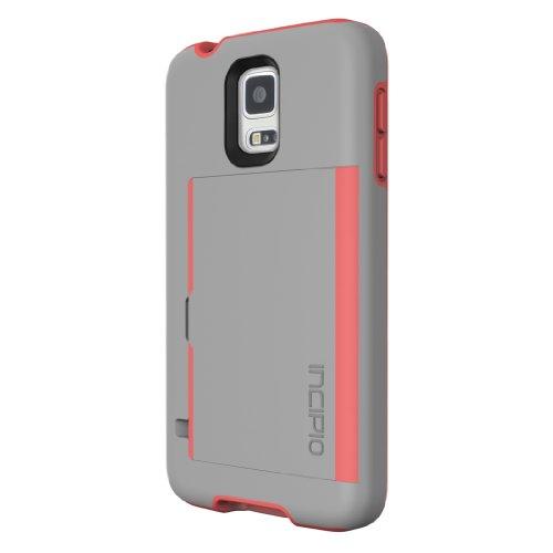 cases for samsung galaxy s5s Incipio Stowaway for Samsung Galaxy S5 - Gray/Neon Orange