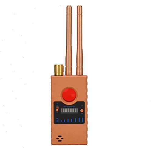 Detector Señal RF Anti Espía Cámara RF,Cámara Oculta Inalámbrica GPS Rastreador Mayor Sensibilidad Multifuncional Dispositivo gsm Descubridor Radar Escáner Radio Alarma Señal Inalámbrica (Yellow)