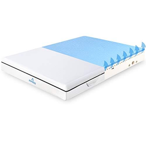 Matratze Visco-Schaum 140x200 cm, 7-Zonen H4 Matratzen mit einzigartiges Design und atmungsaktiven 3D-Memory Schaum, Optimale Unterstützung des Lenden- und Beckenbereich, Öko-Tex Zertifiziert