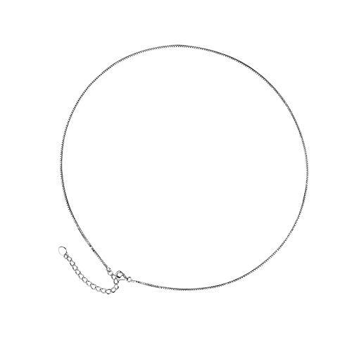 Cadenas finas para las mujeres colgantes Diy 1 Mm Slim Box Link Collar Adolescente Joyería